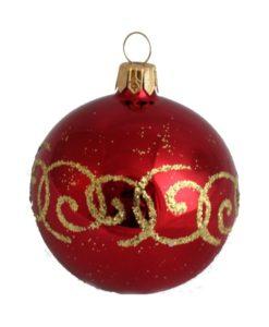 Glass Christmas Ball Corall - Glass Christmas Ornaments