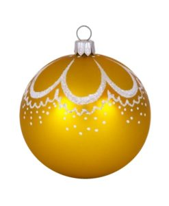 Curl Gold Glass Christmas Ball - Glass Christmas Ornaments and Tree Decorations