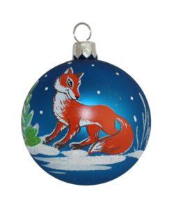 Fox Christmas Ball - Glass Christmas Baubles and Christmas Tree Decorations
