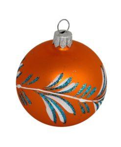 Orange Christmas Ball - Glass Christmas Baubles and Christmas Tree Decorations