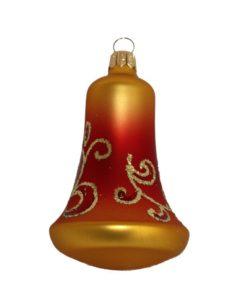 glass christmas bell gold