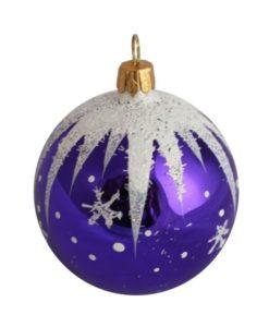 Winter Christmas Ball, Purple - Glass Christmas Ornaments